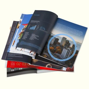 Selected legacy annual reports: Ontario Power Generation, Empire Company, Crombie REIT, OMERS, GMP Capital, and Crombie REIT (each designed and produced in collaboration with Craib Design & Communications)