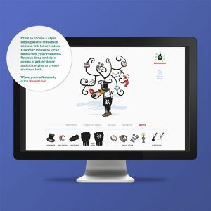 Moveable: Holiday Season greeting to clients / interactive microsite
