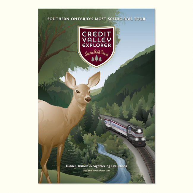 Credit Valley Explorer: Marketing poster for summer rail tours