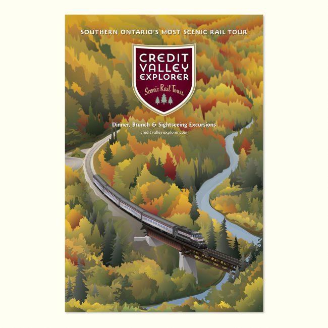 Credit Valley Explorer: Marketing poster for autumn rail tours